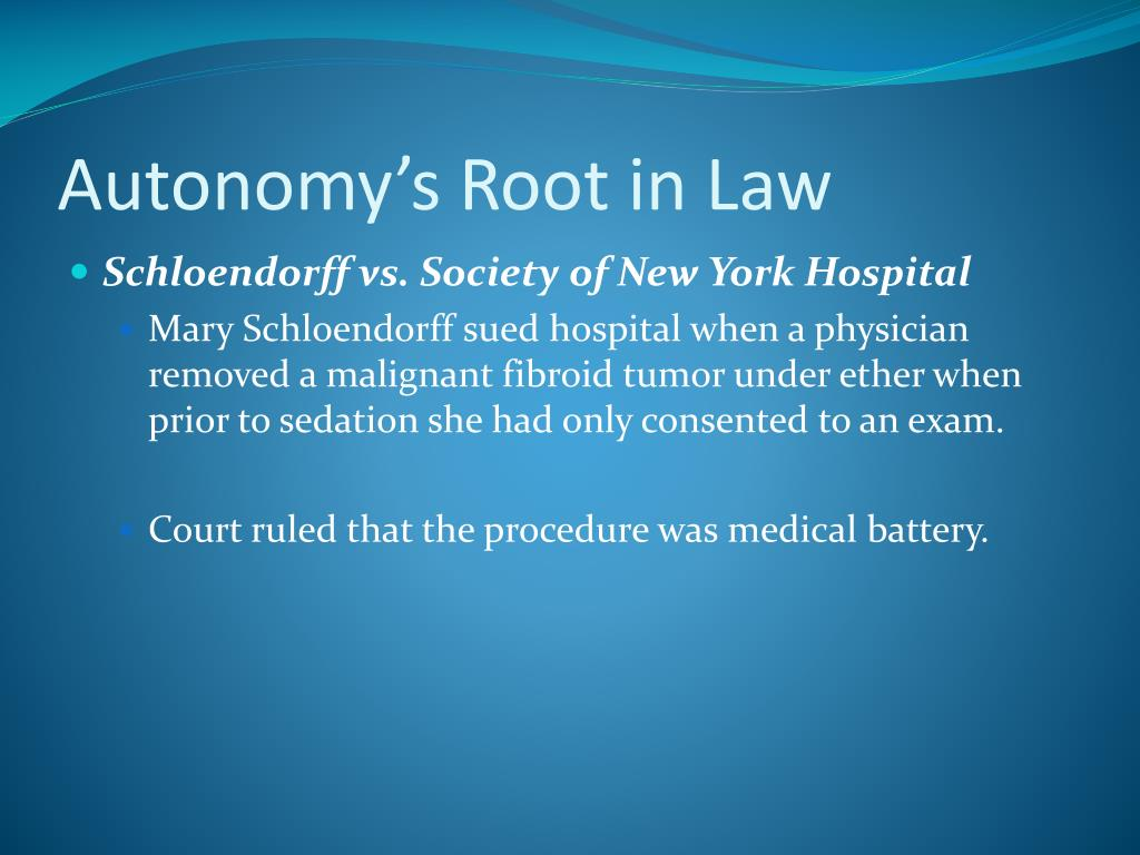 Autonomy's Root in Law