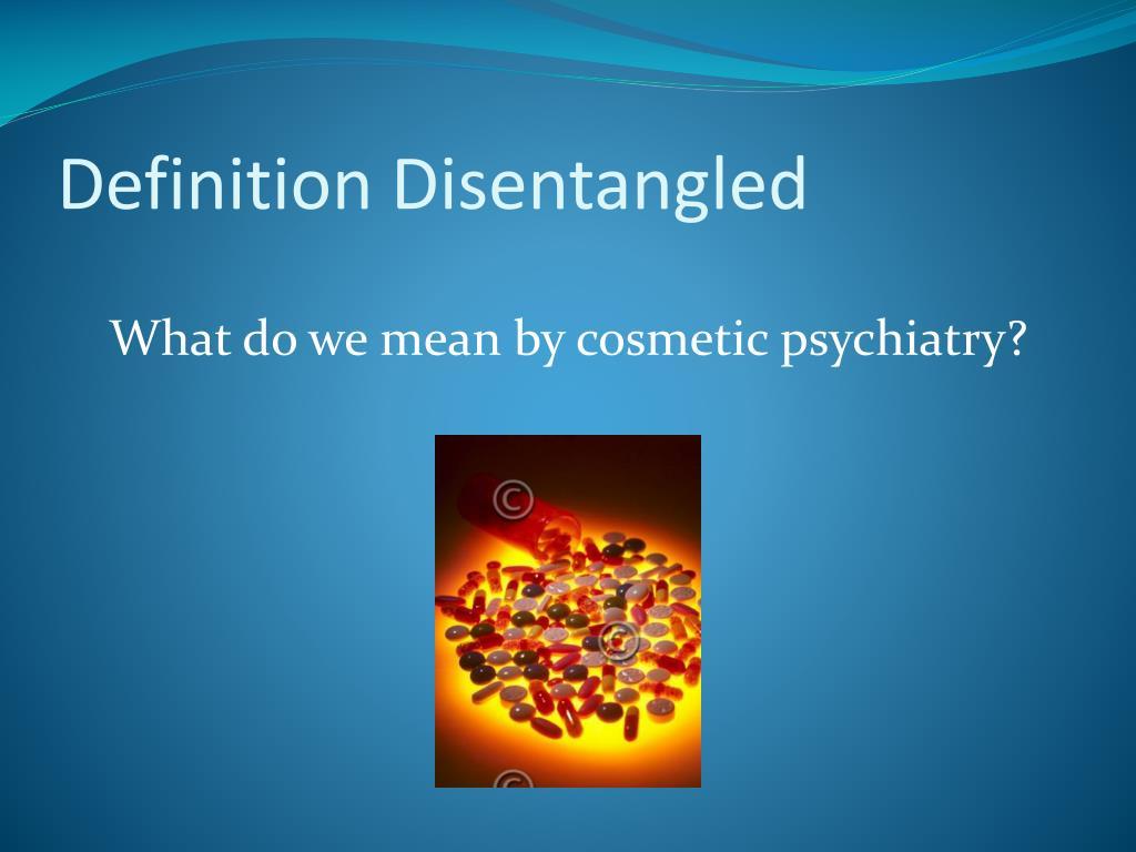 Definition Disentangled