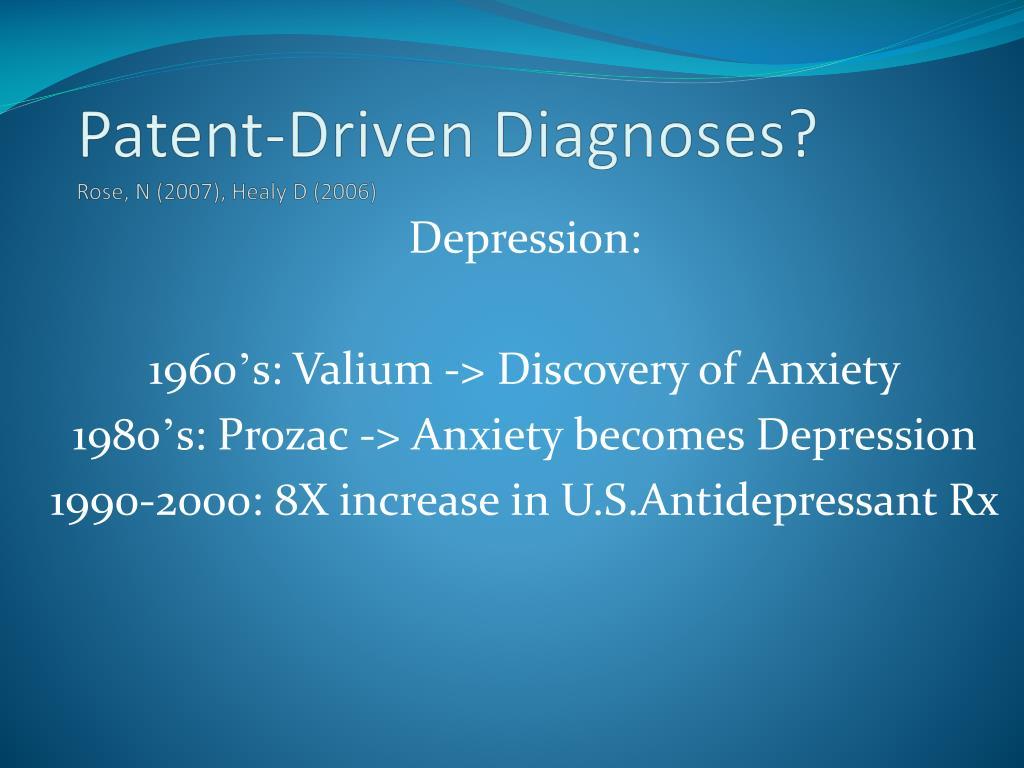 Patent-Driven Diagnoses?