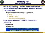 modeling tier track and intensity forecasts