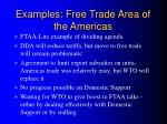 examples free trade area of the americas