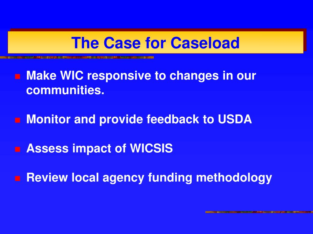 Make WIC responsive to changes in our communities.