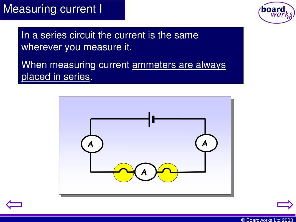 Measuring current I