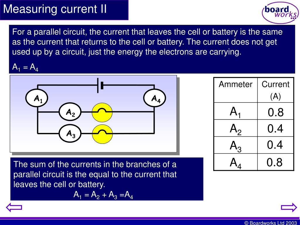 Measuring current II