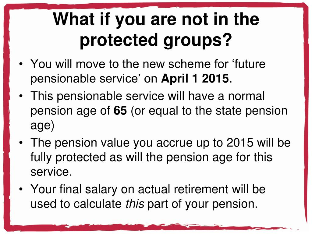What if you are not in the  protected groups?