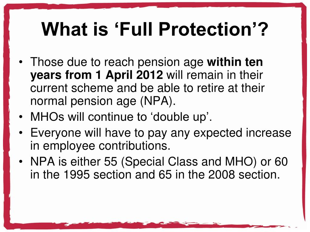 What is 'Full Protection'?