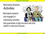 motivating students activities
