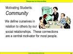 motivating students community