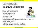motivating students learning challenges