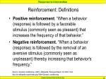 reinforcement definitions