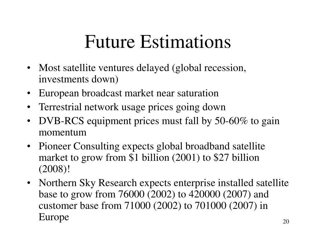 Future Estimations
