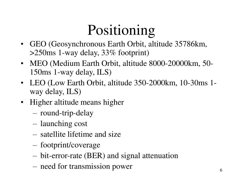 Positioning