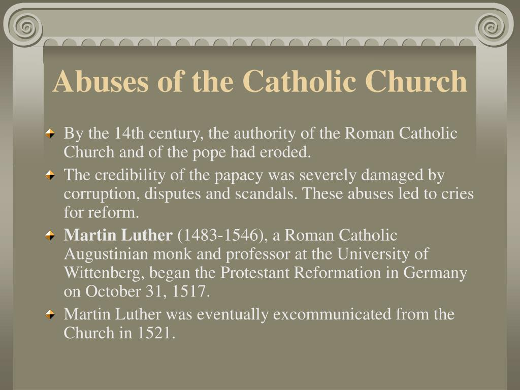 Abuses of the Catholic Church