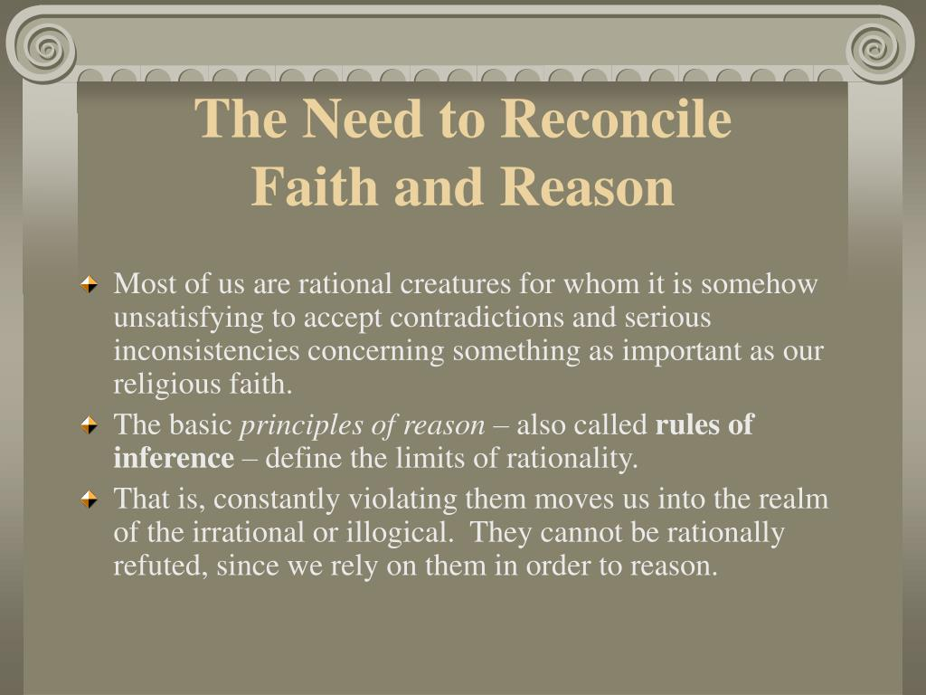 The Need to Reconcile