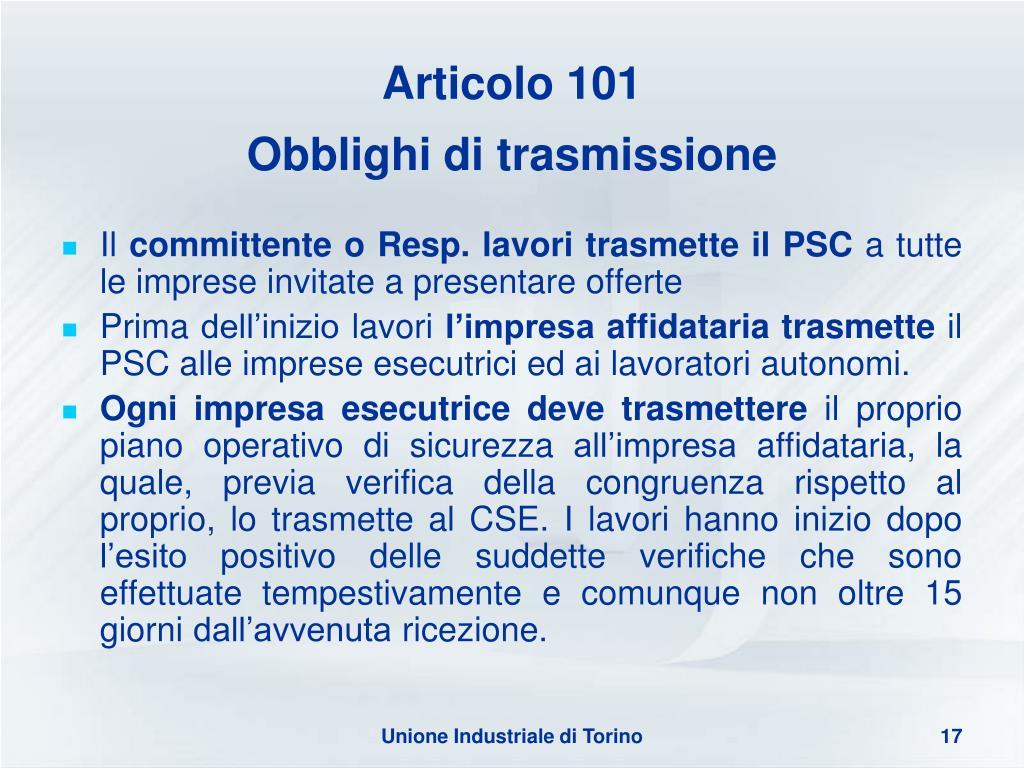 Articolo 101