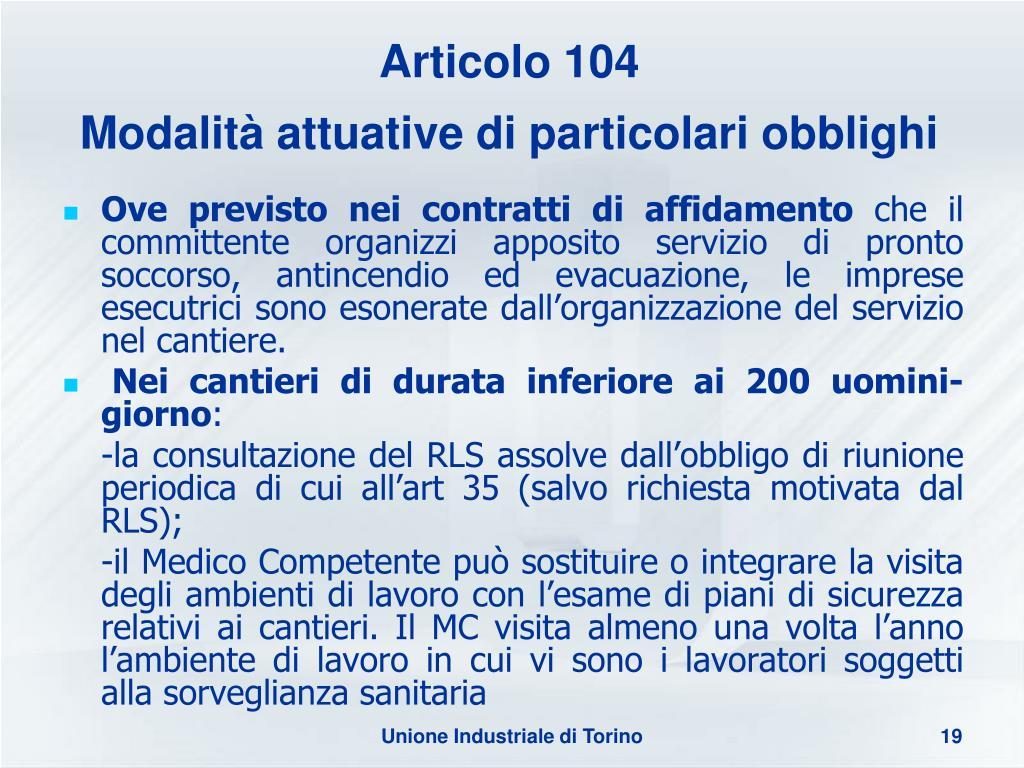 Articolo 104