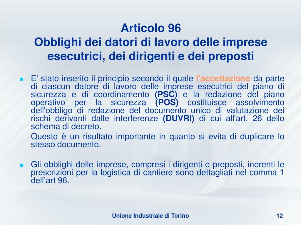 Articolo 96