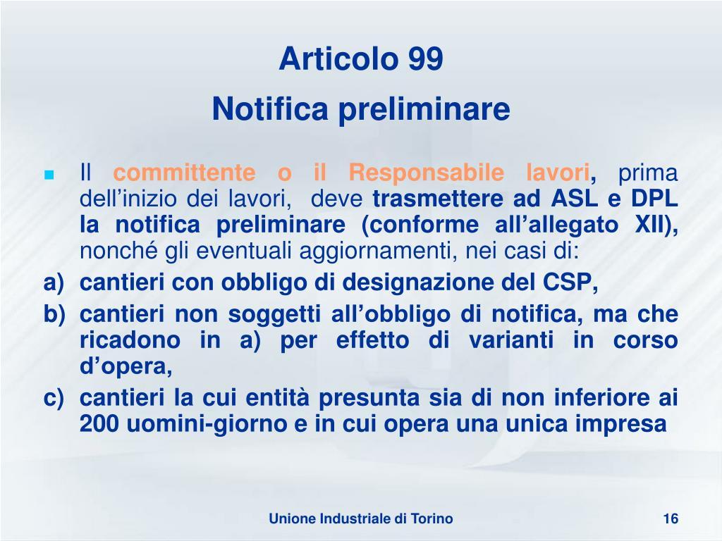 Articolo 99