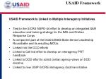 usaid framework is linked to multiple interagency initiatives