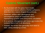 cyclonic movement cont