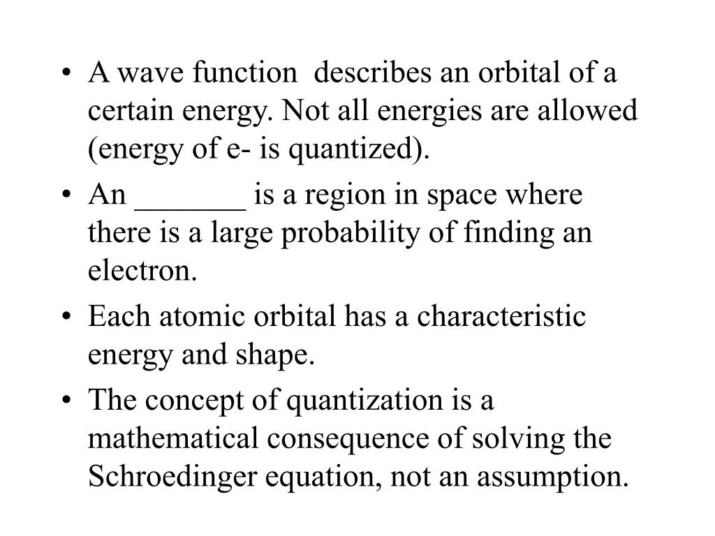 A wave function