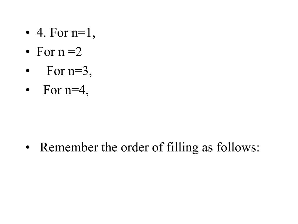4. For n=1,