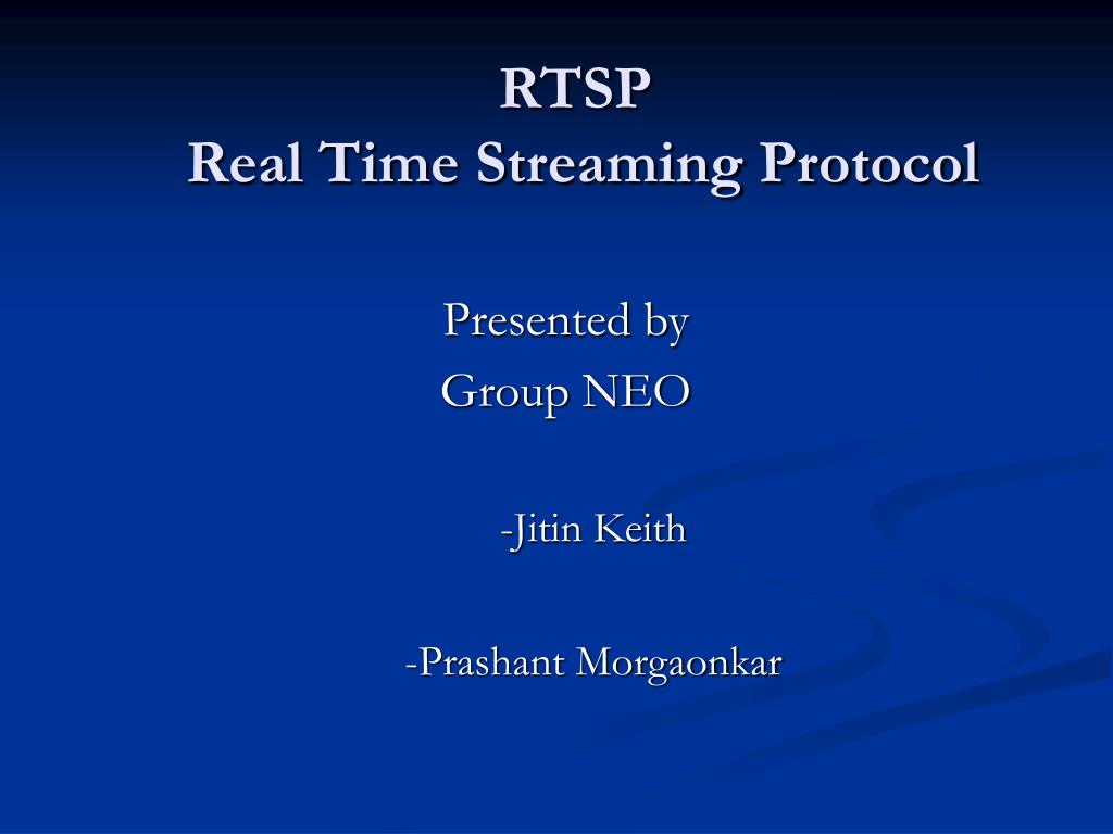 rtsp real time streaming protocol l.