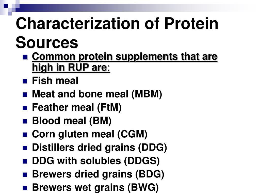 Characterization of Protein Sources