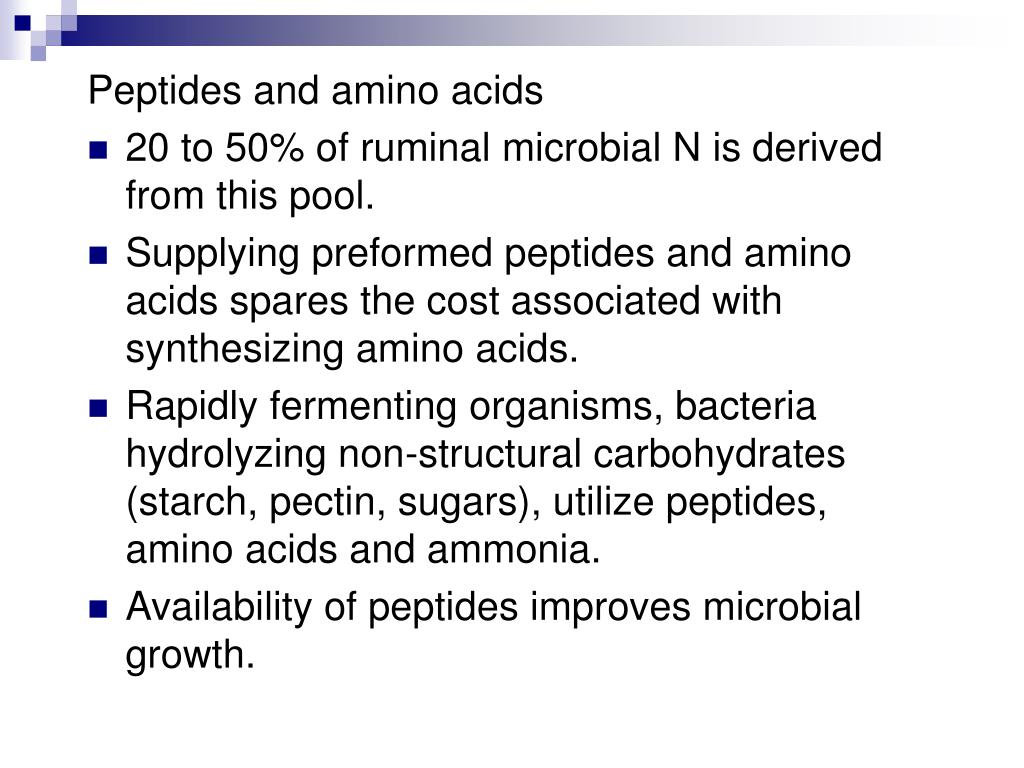 Peptides and amino acids