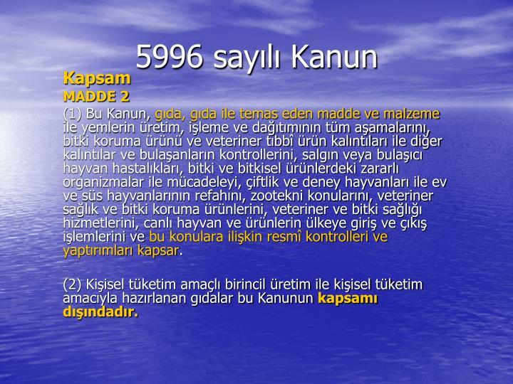 5996 say l kanun3