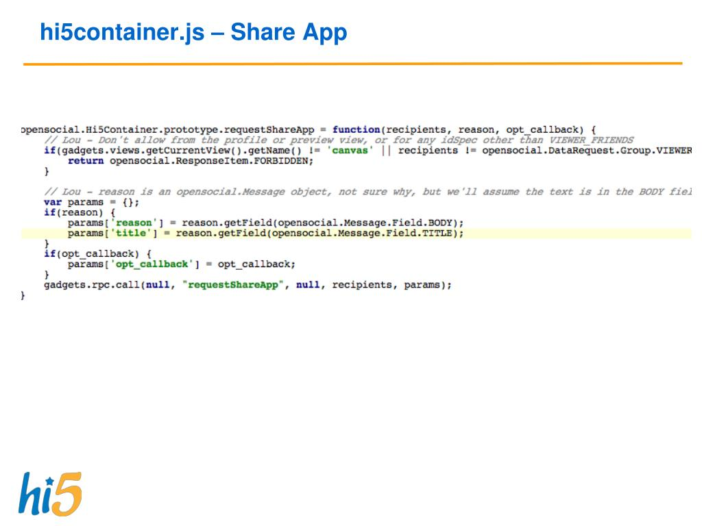 hi5container.js – Share App
