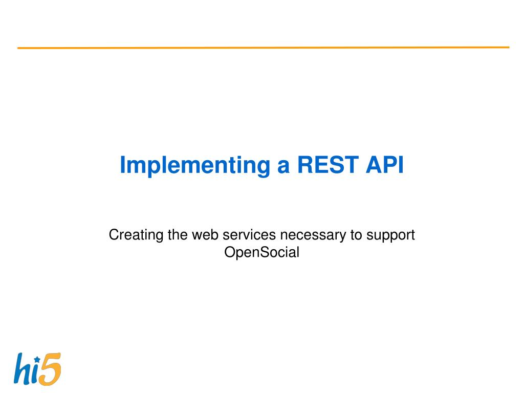 Implementing a REST API