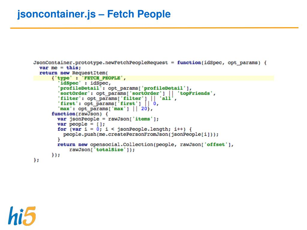 jsoncontainer.js – Fetch People