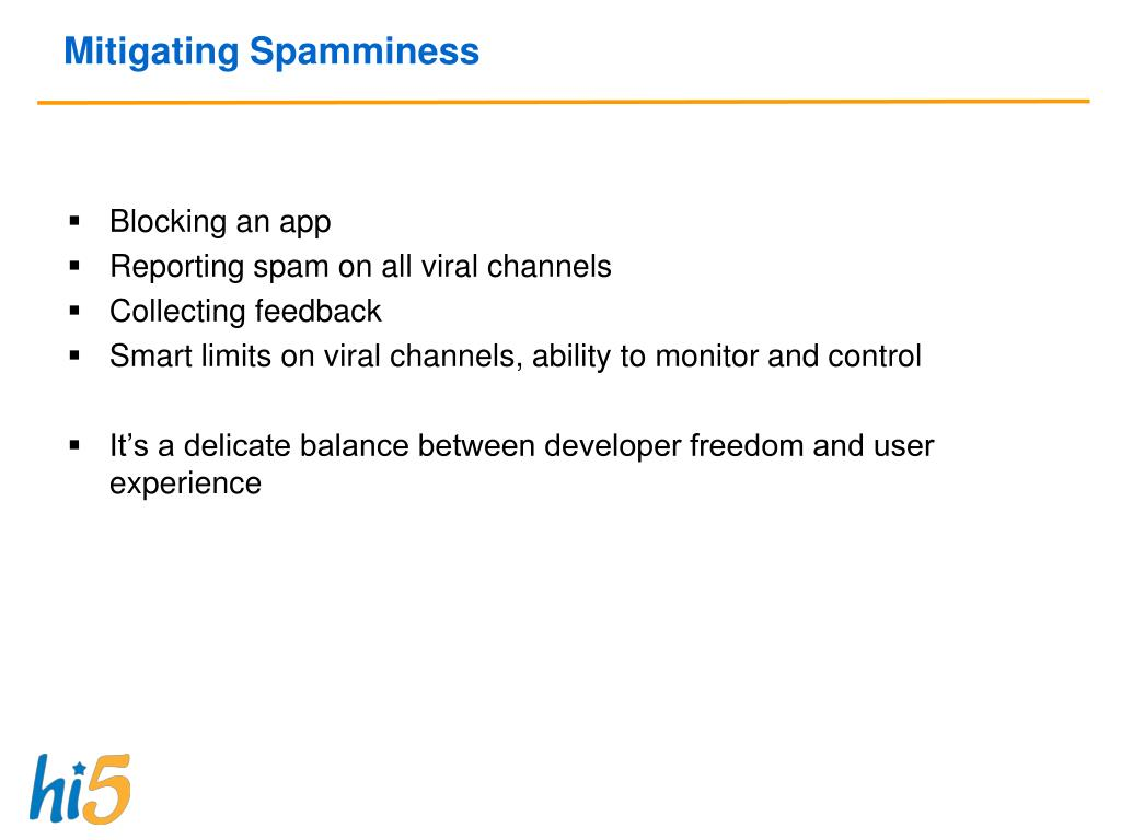 Mitigating Spamminess