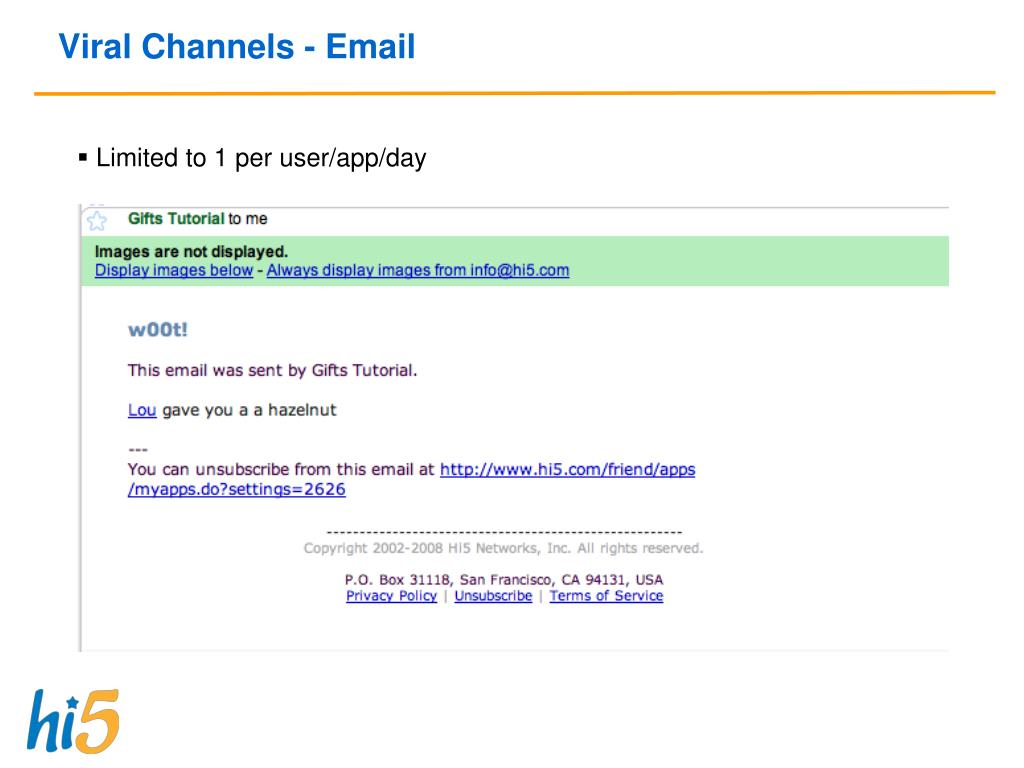 Viral Channels - Email