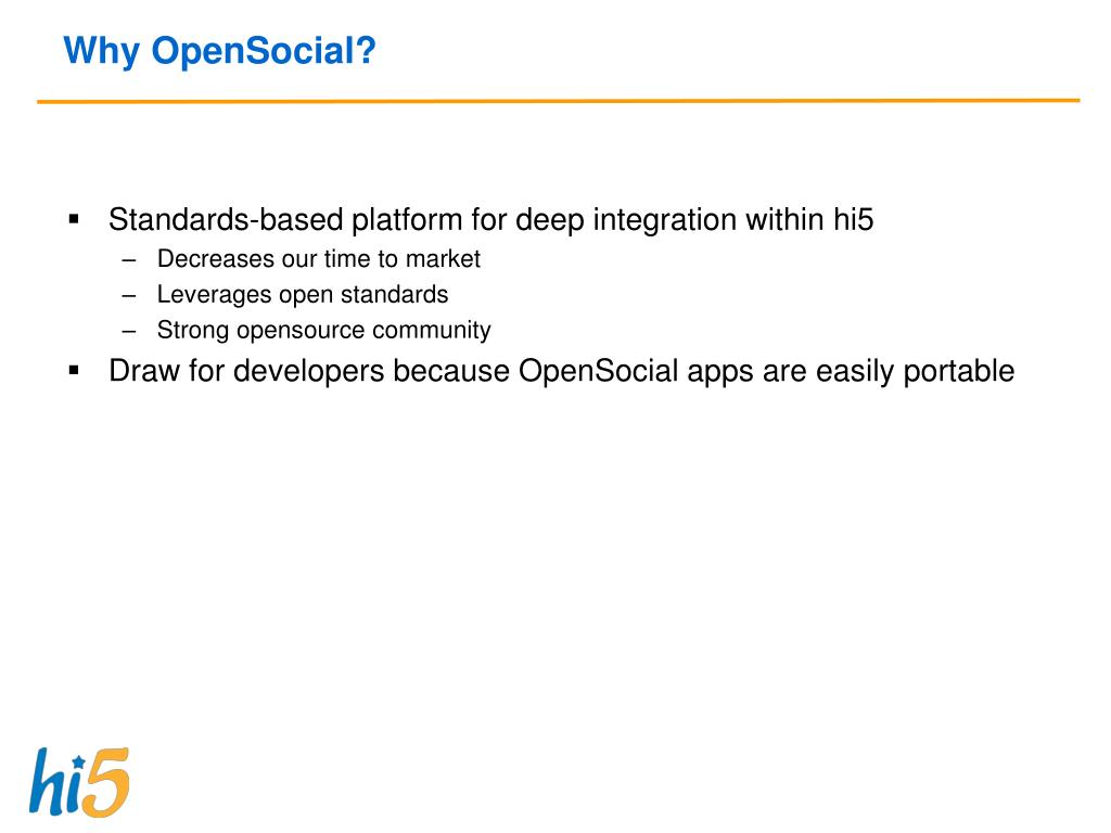 Why OpenSocial?