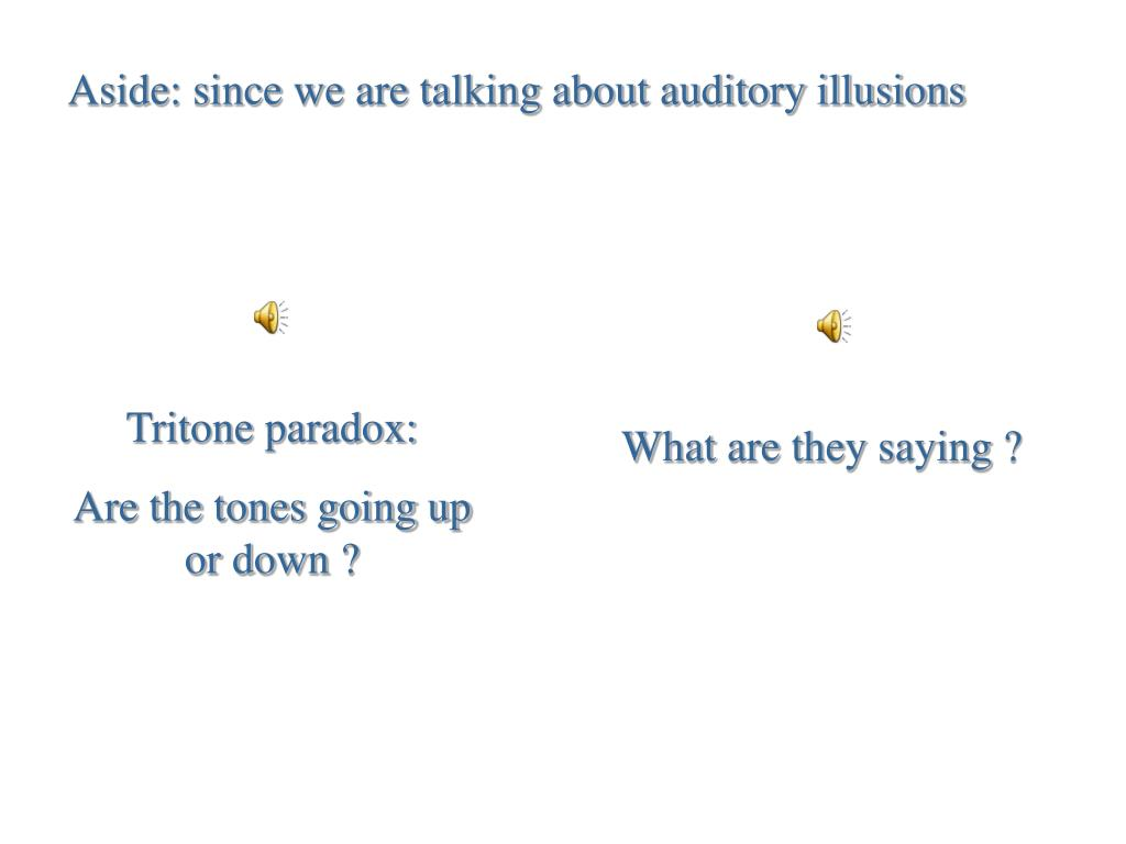 Aside: since we are talking about auditory illusions