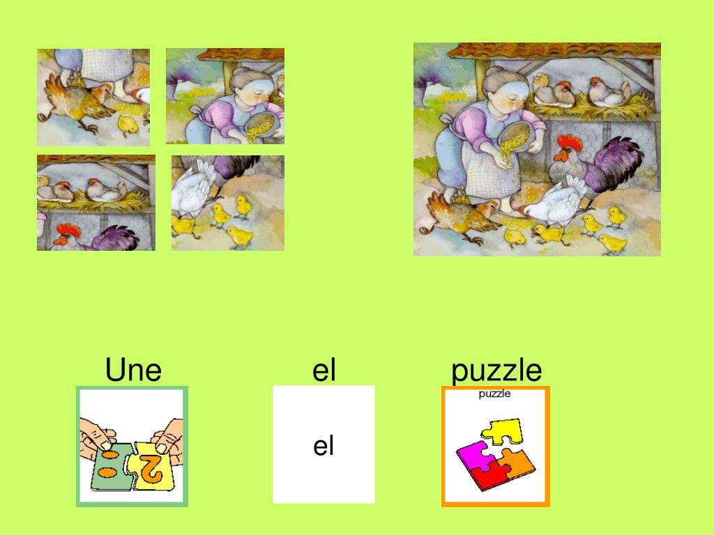 Une                 el             puzzle