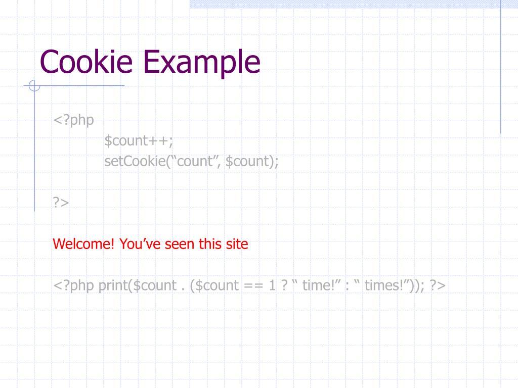 Cookie Example