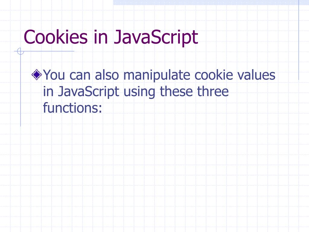 Cookies in JavaScript