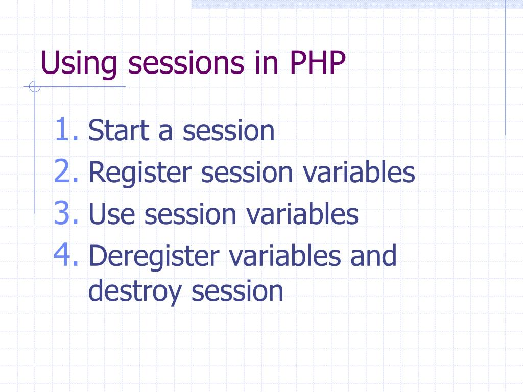 Using sessions in PHP