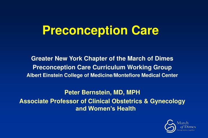 preconception care n.