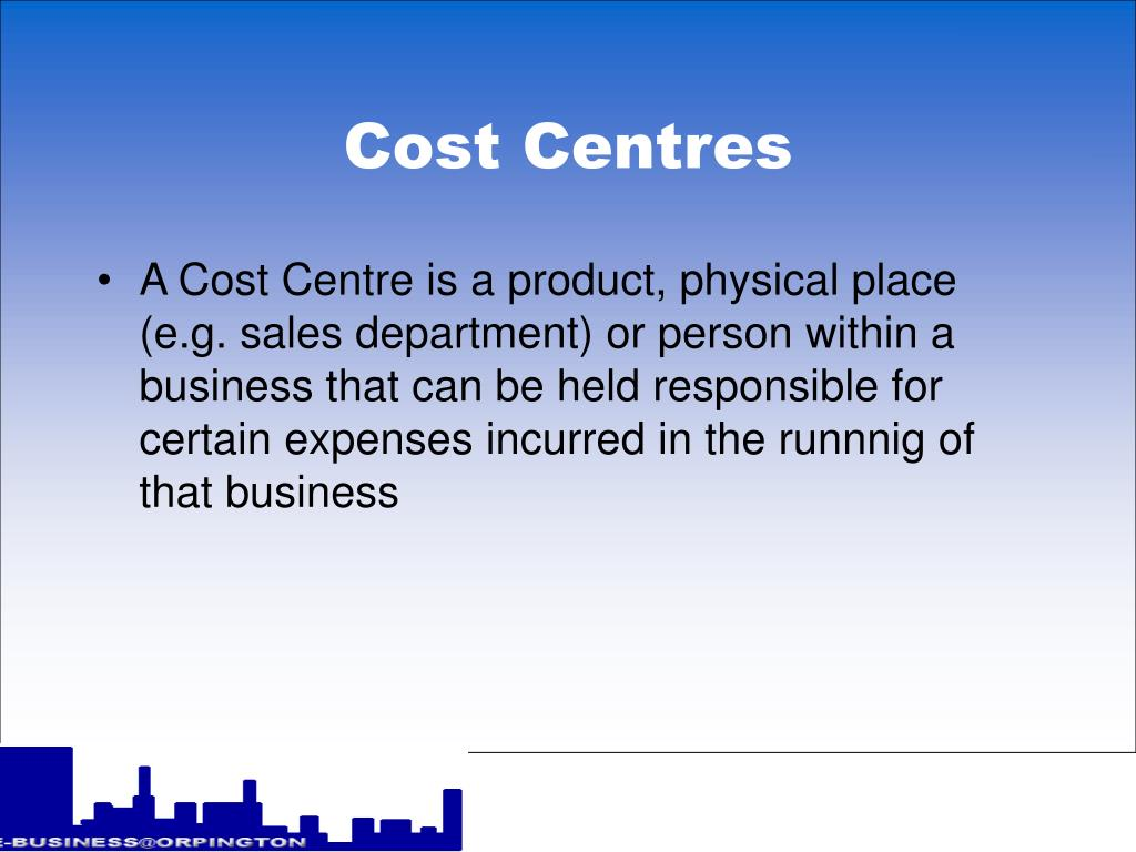 Cost Centres