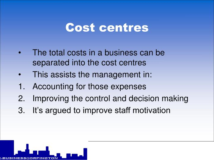 Cost centres2