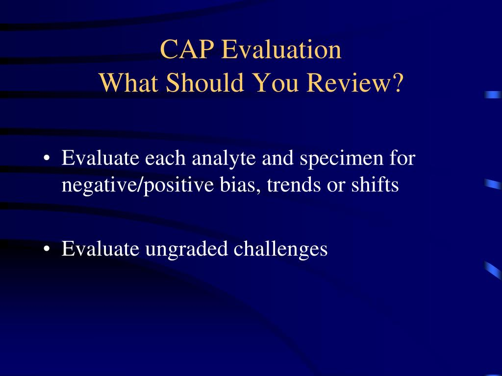 CAP Evaluation