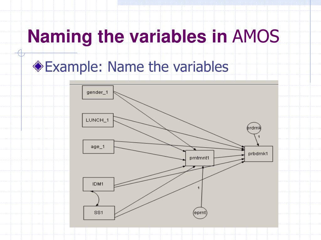 Naming the variables in