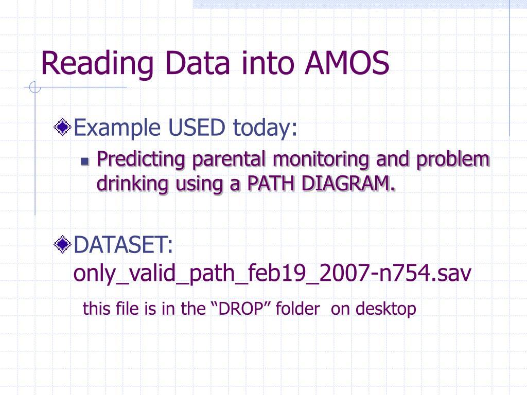 Reading Data into AMOS