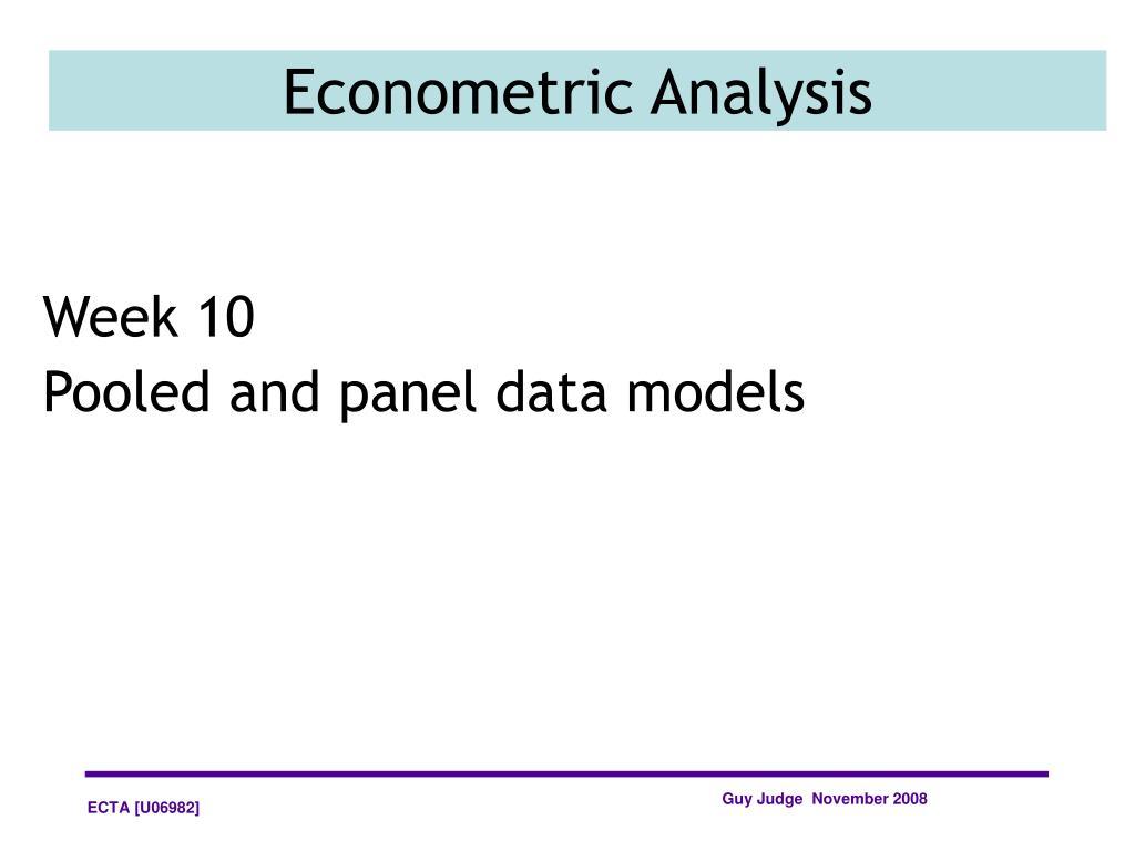 econometric analysis l.