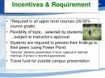 incentives requirement