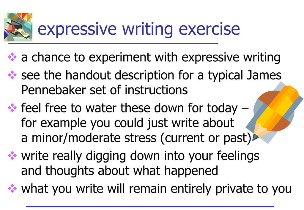 expressive writing examples